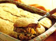 Pasta-Beef Cobbler