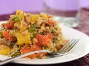Roasted Capsicum and Alfa-Alfa Sprouts Salad with Peanut Dressing