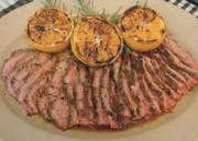 Delicious Garlic Fennel Flank Steak with Grilled Oranges