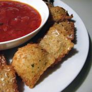 Fried Ravioli  with Spaghetti Sauce