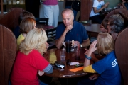 VPOTUS Joe Biden gets in touch with voters at the Acoustics Cafe.