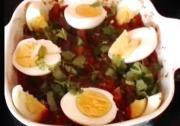 Curried Eggplant & Radish Salad