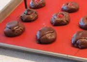 Chocolate Coated Cherry Cookies