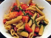 Penne with No Cook Tomato Sauce