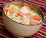 Chicken soup makes an interesting gluten free holiday dinner item