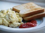Creamy Scrambled Eggs With Crispy Potatoes