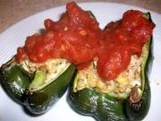 Poblano Chili Stuffed With Ricotta And Pine Nuts