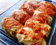 Veal Stuffed Cabbage In Wine Sauce