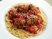 Sphagetti and meatballs make healthy meal