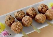 Mini Pork and Cheese Cutlets on Skewers