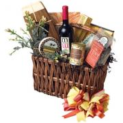 The gorgeous looking wine and cheese basket