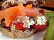 Healthy salmon sandwich for kids