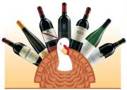 Thanksgiving wines to choose from.