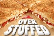 Overstuffed pizza is here at Pizza Hut.
