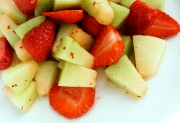 Melon Chunks with Lemon Lime Sauce