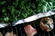 Leftover Steak with Kale Chips