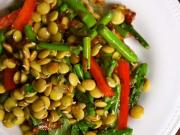 Sprouted Lentil Salad With Mustard Dressing