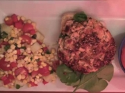 Salmon Burger with Corn Salad