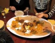 Experience Indigenous Ethiopian  Food At Mesob