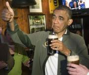 President Obama loves his glass of beer.