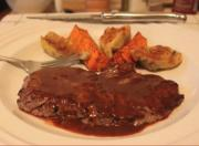 Minute Steak with Barbecue Butter Sauce