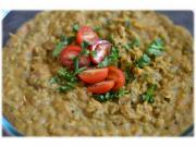 Pressure Cooked Lentils with Stir Fried Coconut