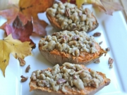 Twice Baked Sweet Potatoes with Butter Pecan Streusel: Thanksgiving Collaboration