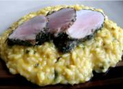 Butternut Squash Risotto And Herb Crusted Pork Tenderloin