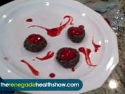 Almond And Date Cookies With Raspberry Sauce