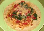 Spinach and Garbanzo Beans with Cheese