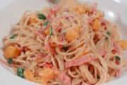 Delicious Ham & Butternut Squash Spaghetti