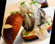 Horseradish Beef Burger