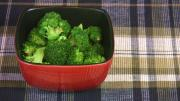 Sesame Salt over Steamed Broccoli
