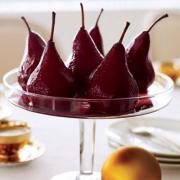 Wine poached pears are simple, elegant, and waist-whittling dessert option for holiday cooking