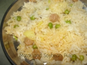 Matar And Soybean Pulao