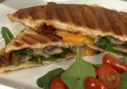 Italian Grilled Mushroom, Cheese and Spinach Panini