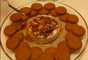 Holiday Almond Apricot Brie with Ginger Snaps