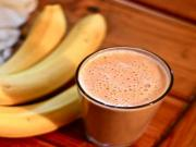 Healthy Banana Smoothie with Chocolate