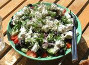 Greek Vegetable And Cheese Salad