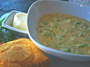 Cornmeal and Broccoli Soup