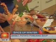 Sweet Potato Poblano Soup by Chef Lala