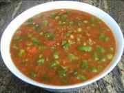 Okra with Tomato Sauce- وصفة طبخ الباميه