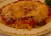 Linguine Spaghetti with Homemade Italian Tomato Sauce