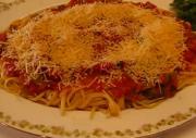 Linguine Spaghetti with Homemade Italian Tomato Sauce