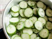 Homemade English Cucumber Pickles