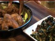 Part 2 - Fried Chicken Wings with Sauteed Greens