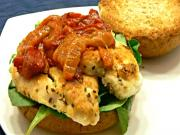 Roasted Red Pepper and Chicken Sandwich