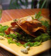 Arugula Salad With Crispy Fingerling Potato Chips