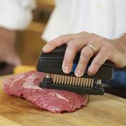 Pounding the beef with a meat tenderizer is a good technique to tenderize tough cuts of beef