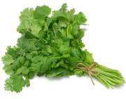 Cilantro can curb chitlins' foul odor.